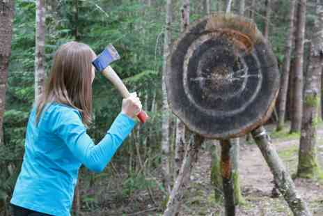 Moving Mountains Outdoor Skills Education - One hour axe throwing session for two people - Save 53%