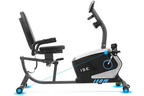 Furnishings Outlet - 3kg Recumbent Home Exercise Bike - Save 73%