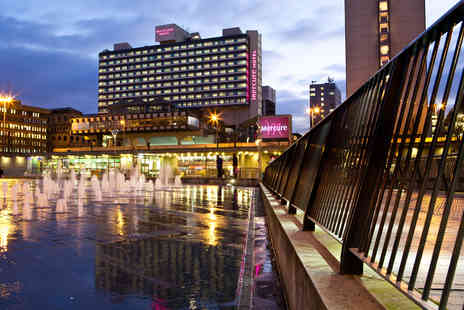 Mercure Manchester Piccadilly Hotel - Overnight stay for two with a bottle of wine - Save 38%