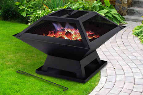Groundlevel - Portable fire pit with BBQ grill - Save 0%