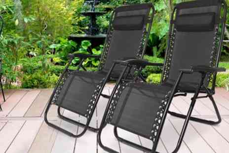 Groupon Goods Global GmbH - Two Humlin Zero Gravity Folding Chairs - Save 0%
