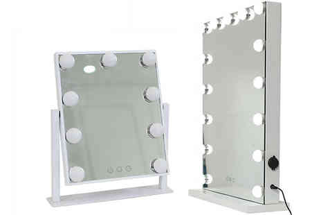 Garden & Camping - Hollywood Style LED Light Mirrors - Save 0%