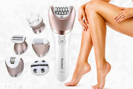 hey4beauty - 5 in 1 multifunctional shaver epilator callus remover and massager - Save 58%