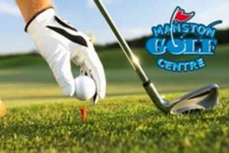 Manston Golf Centre - Day of Golf For Two With Lunch and Drink Each - Save 57%