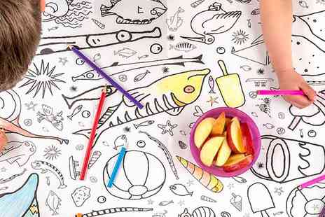 Eggnogg - Colour in Seaside Tablecloths or Giant Posters - Save 27%