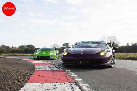 Drift Limits - 20 lap Lamborghini vs Ferrari supercar driving experience - Save 50%