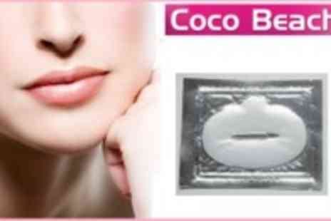 Coco Beach - Plump up Your Lips Pack of 5 Luxury Crystal 24K Gold Power Gel Collagen Lip Masks - Save 73%
