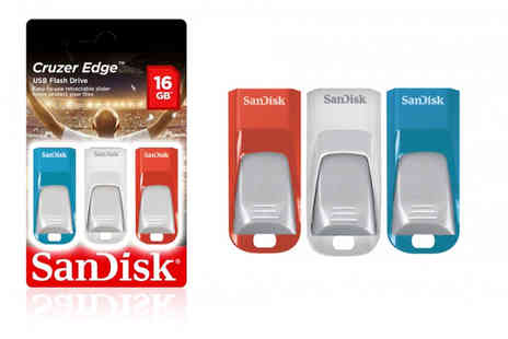 Avant Garde Brands - Three pack of 16GB Sandisk Cruzer edge USB flash drives - Save 0%
