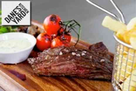Danes Yard Kitchen - Two Courses of Modern British Cuisine With Wine For Two  - Save 60%