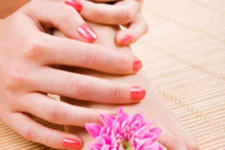Saks Hair & Beauty - Manicure and Pedicure with OPI Gel Nails - Save 60%
