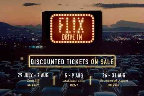 Flix Drive In - One ticket for a car with up to seven passengers - Save 61%