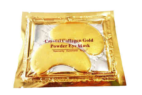 Forever Cosmetics - 20 Crystal Gold Collagen Eye Masks - Save 93%