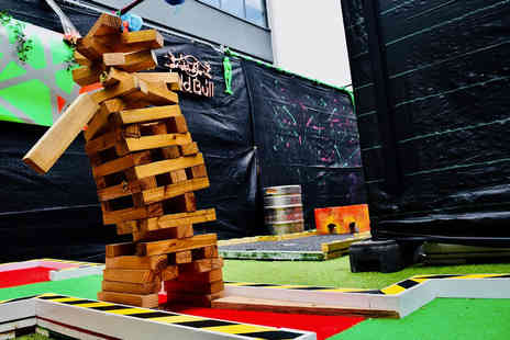 The Shack 68 Live - Round of crazy golf, a burger and a cocktail for one - Save 68%