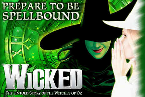 Just Book Sports - A London hotel stay with Wicked The Musical theatre tickets - Save 0%