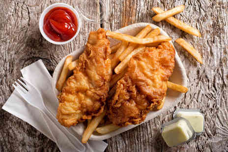 Signature Steakhouse - Fish and chips with a beer, glass of wine or cocktail each - Save 56%