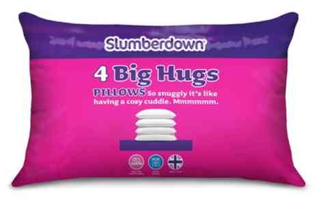 Groupon Goods Global GmbH - Pack of Four Slumberdown Big Hugs Pillows - Save 0%