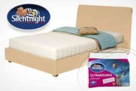 UK Bedding - Silentnight Memory Foam Mattress Single, Double, or King Sized from Plus Two Ultrabounce Pillows - Save 53%