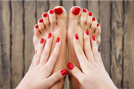 Queen Of The South HBA - Spa pedicure including Shellac on the choice of hands or toes - Save 52%