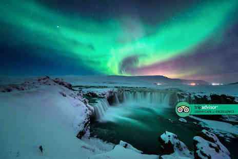 Crystal Travel - Reykjavik, Iceland hotel stay with Northern Lights tour and return flights - Save 50%