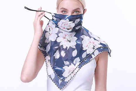 SecretStorz - 1 or 2 Pack of Floral Scarf Face Covers - Save 0%