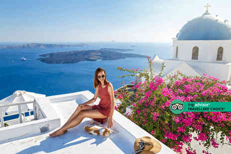 Bargain Late Holidays - A Santorini, Greece resort stay with breakfast and return flights - Save 23%
