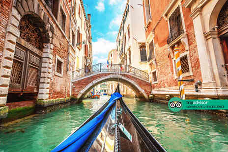 Crystal Travel - A Venice, Italy hotel stay with return flights from three airports - Save 29%