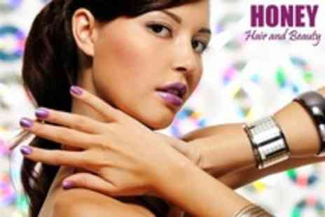 Honey Hair and Beauty - Shellac Manicure or Pedicure - Save 50%