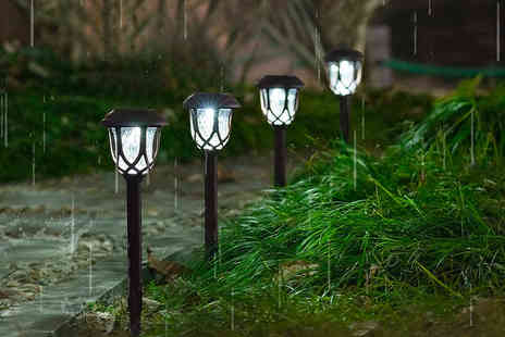 Wish Whoosh Offers - Six pack of solar outdoor pathway lights - Save 60%