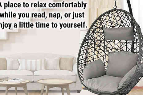 Hirix International - Rattan Weave Egg Chair With Cushion - Save 56%