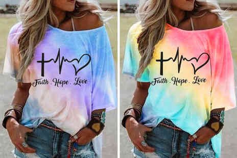 Wish Imports - Womens faith love and hope top - Save 80%