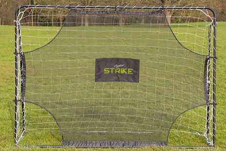 Garden & Camping - Strike 7x5ft Football Goal and Rebound Net - Save 0%