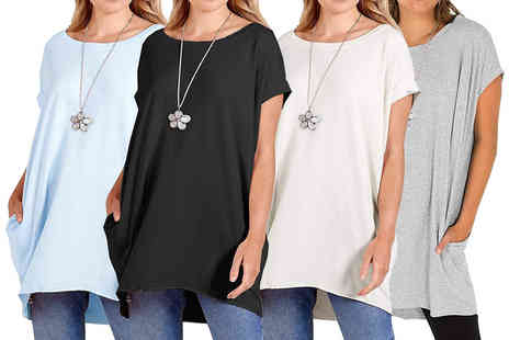 Trendy Missi - Baggy necklace Tshirt dress - Save 0%