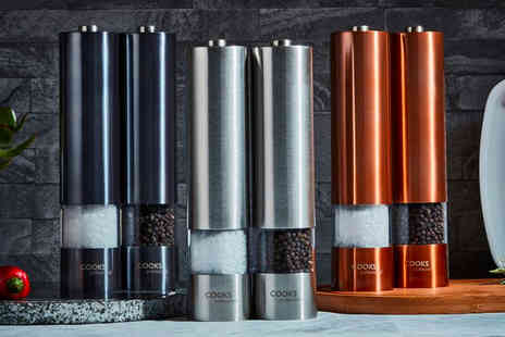 CJ Offers - Set of electric salt and pepper mills - Save 45%