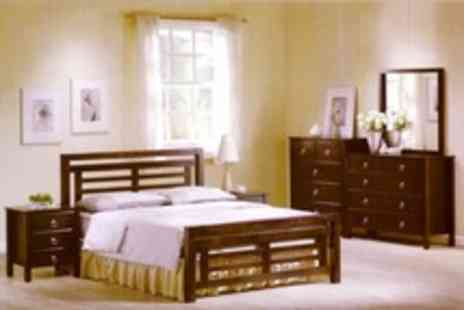 Ideal Furniture - Malaysian Pine Bedframes With Beech or Wenge Finish - Save 50%