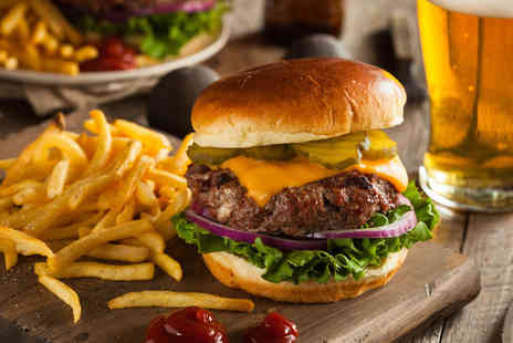 The Brewhaus - Cheeseburgers and drinks for two - Save 0%