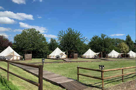 Oaklodge Retreat - A luxury bell tent glamping trip with sauna and hot tub access - Save 61%