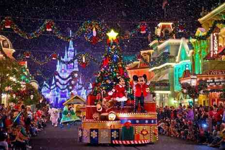 Crystal Travel - A Christmas Disneyland, France hotel stay with one day two park ticket and return flights - Save 27%
