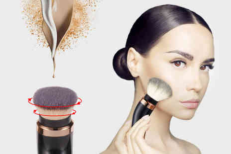 MBLogic - Electric rotating makeup brush with interchangeable brush heads for liquid foundation and powder blusher - Save 75%