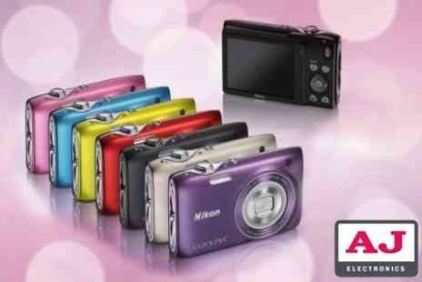 AJ Electronics - Nikon S3100 Compact Digital Camera Plus Leather Case and 4GB Memory Card - Save 0%