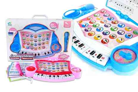 Domo Secret - Blue or pink kids electronic organ with MP3 electronic piano - Save 67%