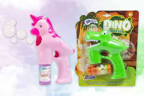 Vivo Mounts - Unicorn or dinosaur kids bubble gun - Save 75%