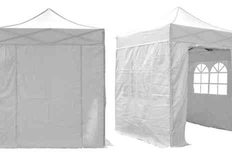 Garden & Camping - 2m x 2m Popup Gazebo With Sides - Save 20%
