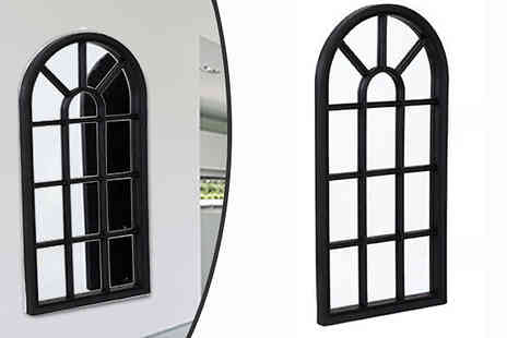 Direct 2 public - Arched Mirrored Window Frame - Save 37%