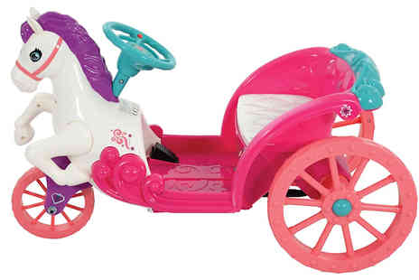 Garden & Camping - Disney Princess Battery Powered Horse and Carriage - Save 0%