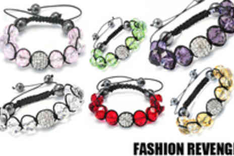 Fashion Revenge - Fan of all things twinkly? Clear Crystal Shamballa Bracelet with Swarovski Elements - Save 94%