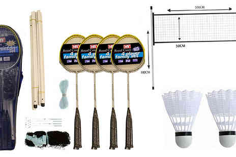 Direct 2 public - 4 Player 8 Piece Badminton Set - Save 67%