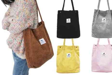 Groupon Goods Global GmbH - One or Two Corduroy Shoulder Bags - Save 80%