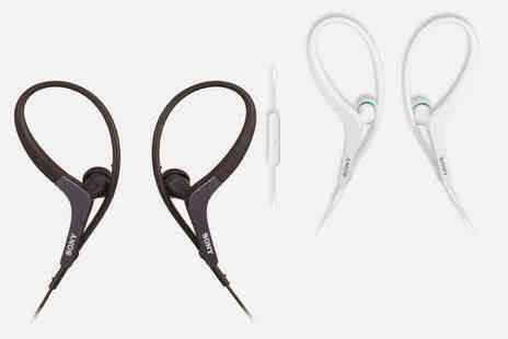 Magic Vision - Pair of black or white Sony MDR-AS400EX in ear sports headphones - Save 0%