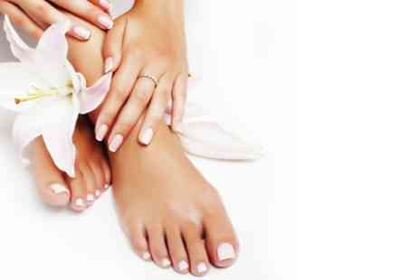 La Lunnah Beauty Salon - Spa Pedicure and Manicure with Scrub, Massage and Paraffin Wax - Save 45%
