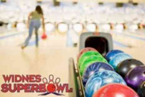 Widnes Superbowl - Ten Pin Bowling For Six Plus Burger or Hot Dog Each - Save 70%